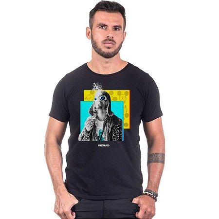 Camiseta Masculina Estampada Kurt Vibes Use Thuco