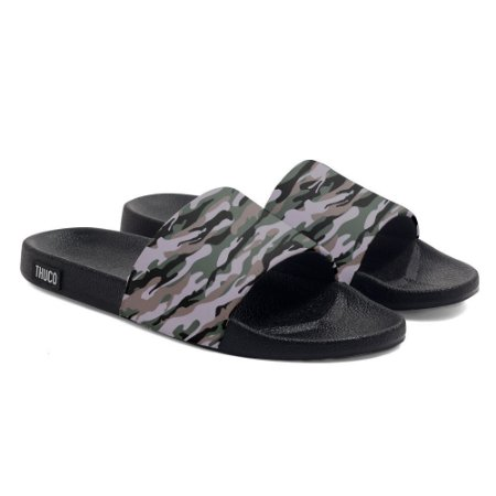 Chinelo Slide Use Thuco Camuflado Marrom