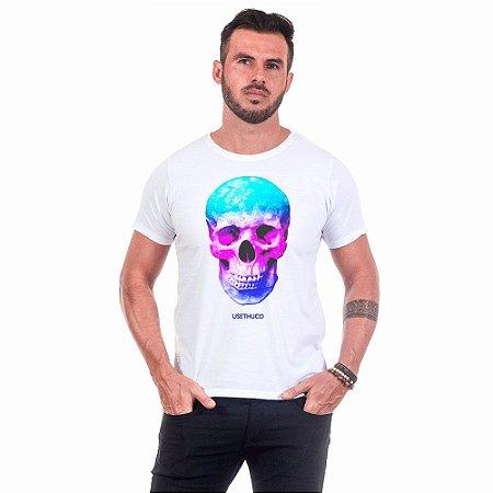 Camiseta Masculina Estampada  Skull Colors Use Thuco