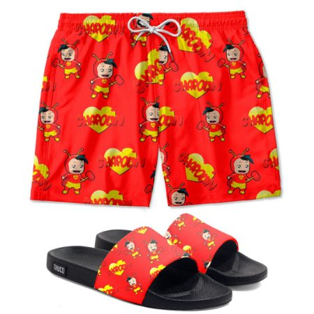 Kit Shorts E Chinelo Slide Chapolin