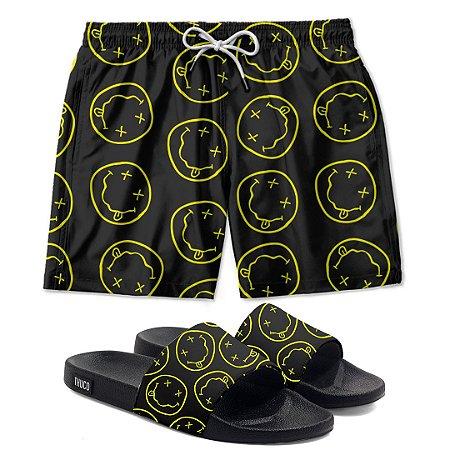 Kit Shorts E Chinelo Slide Smile