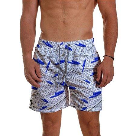 Short Praia Masculino Caneta Azul Azul Caneta