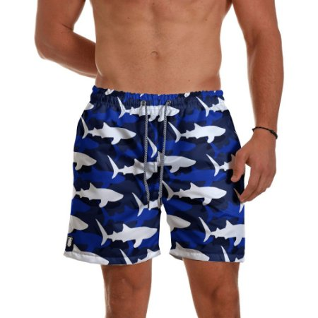Short Praia Use Thuco Sharks