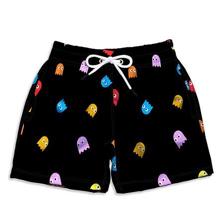Short Praia Infantil UseThuco Pac Man