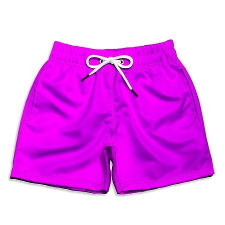 Short Praia Infantil UseThuco Power Pink