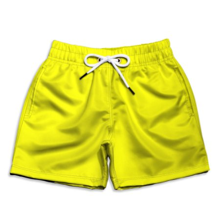 Short Praia Infantil UseThuco Power Yellow