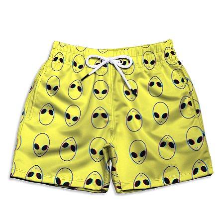 Short Praia Infantil Use Thuco Coleção - ABDUCTION - Yellow