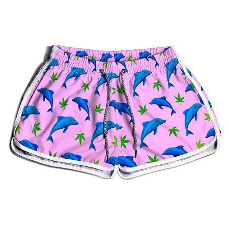 Short Praia Feminino UseThuco Golfinhos Felizes