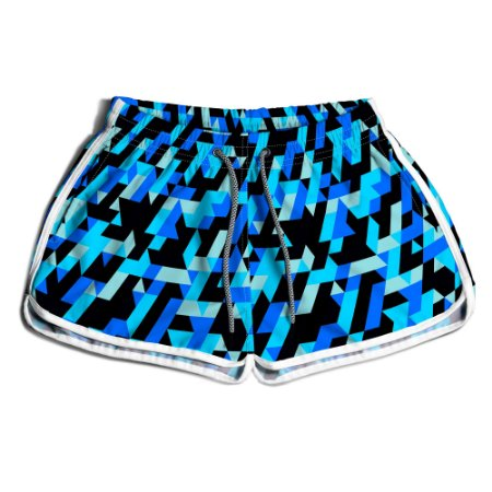 Short Praia Feminino UseThuco Mosaico Azul