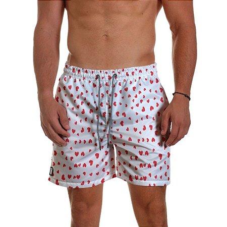 Short Masculino Use Thuco Coleção POKER - Naipe Coração - Branco