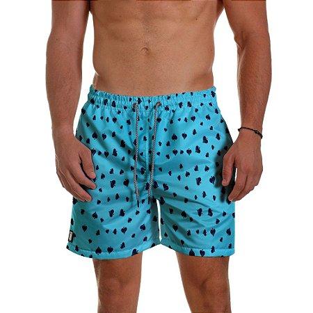 Short Masculino Use Thuco Coleção Poker - Naipe Espada - BG Azul
