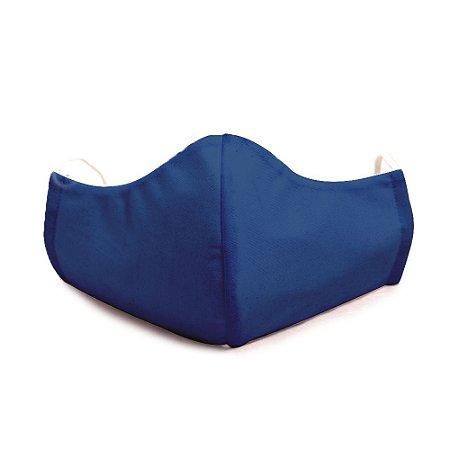 Mascara Proteção Em Tecido Lavável Unissex Azul