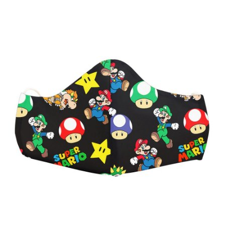Mascara Proteção Em Tecido Lavável Unissex Mario Use Thuco
