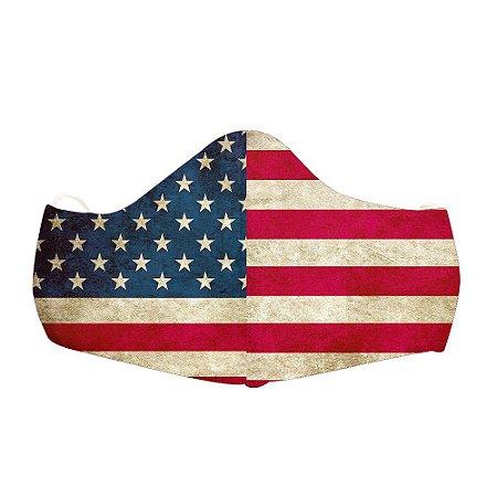 Mascara Proteção Em Tecido Lavável Unissex Bandeira EUA Use Thuco