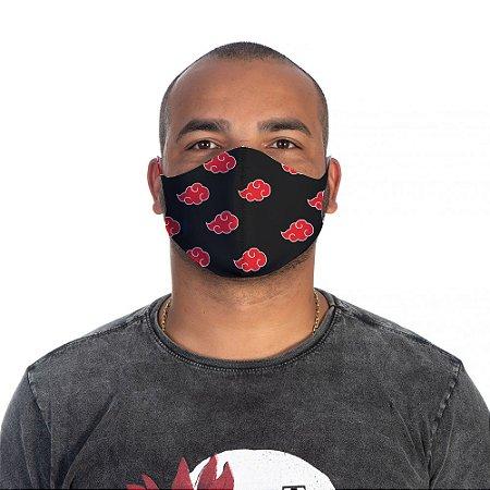 Mascara Proteção Masculina Em Tecido Lavável Neoprene Akatsuki Naruto Use Thuco