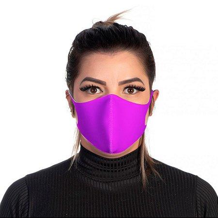 Mascara Proteção Feminina Em Tecido Lavável Neoprene Cor Rosa Use Thuco