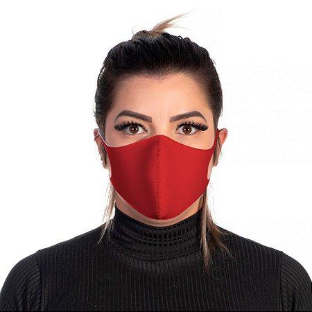 Mascara Proteção Feminina Em Tecido Lavável Neoprene Cor Vermelha Use Thuco