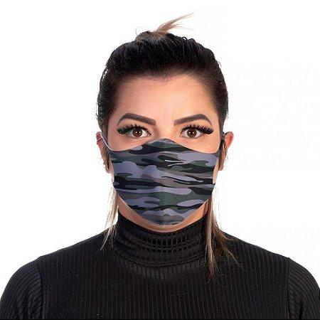 Mascara Proteção Feminina Em Tecido Lavável Neoprene Cor Camuflada Use Thuco