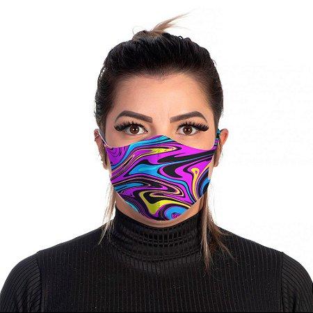 Mascara Proteção Feminina Em Tecido Lavável Neoprene Trippy Use Thuco