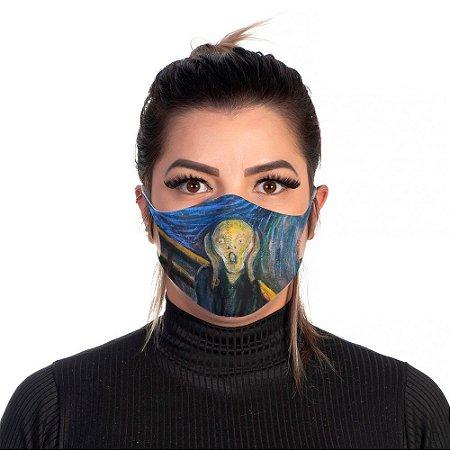 Mascara Proteção Feminina Em Tecido Lavável Neoprene o Grito