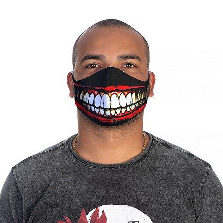 Mascara Proteção Masculina Em Tecido Lavável Neoprene Joker Smille Use Thuco