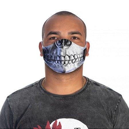 Mascara Proteção Masculina Em Tecido Lavável Neoprene Skull Face Use Thuco