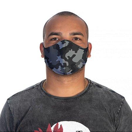 Mascara Proteção Masculino Em Tecido Lavável Neoprene Camuflado Preto Use Thuco
