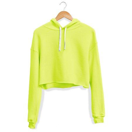 Cropped Moletom Feminino Capuz Use Thuco Verde Neon