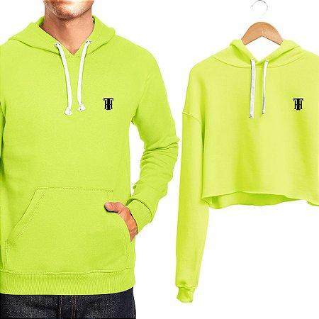 Moletom Masculino e Cropped Feminino Verde Neon Use Thuco