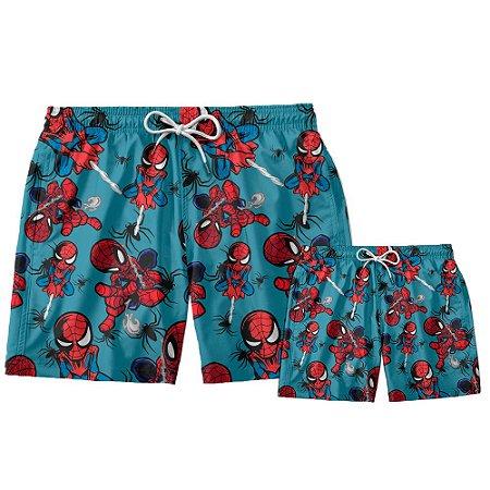 Kit Shorts Pai e Filho Homem Aranha Use Thuco