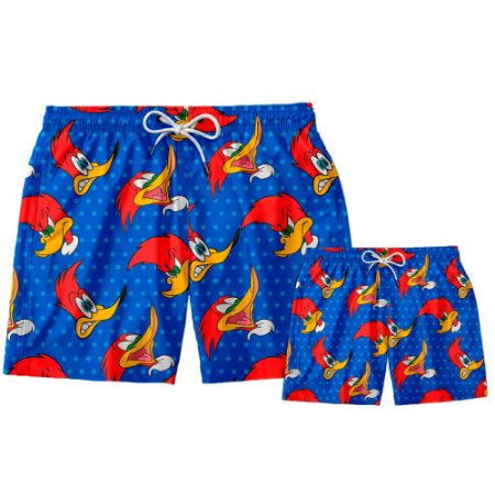 Kit Shorts Pai e Filho Pica Pau Use Thuco