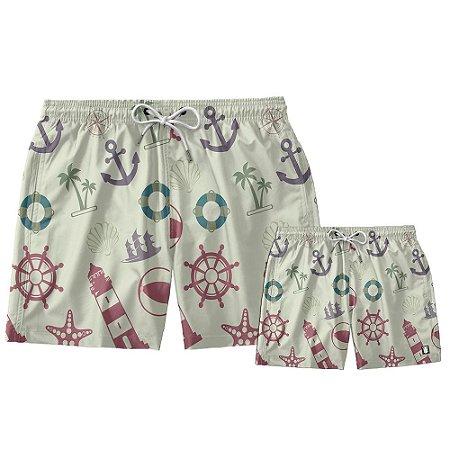 Kit Shorts Pai e Filho Náutica Use Thuco.