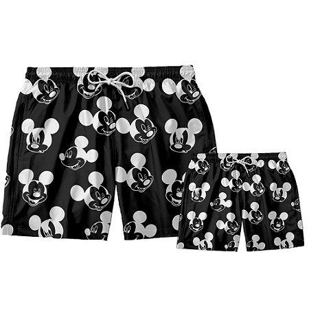 Kit Short Pai e Filho Mickey Mouse Use Thuco.
