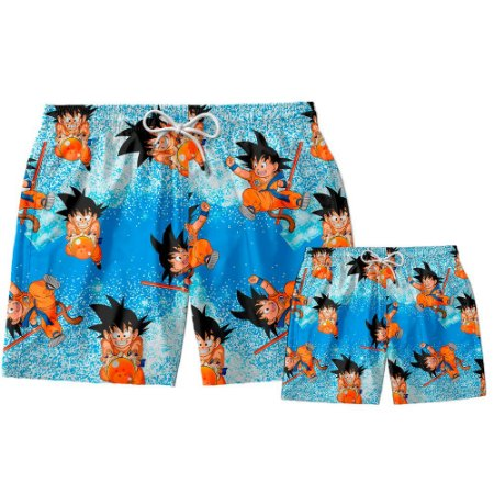 Kit Short Pai e Filho Son Goku Use Thuco.