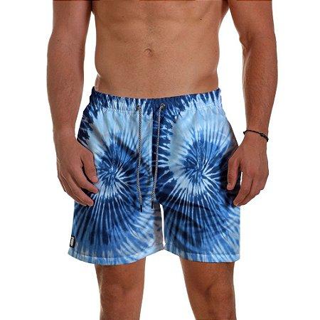 Short Masculino - TIE DYE Azul Coral
