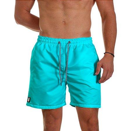 Short de Praia Masculino Azul Piscina Use Thuco