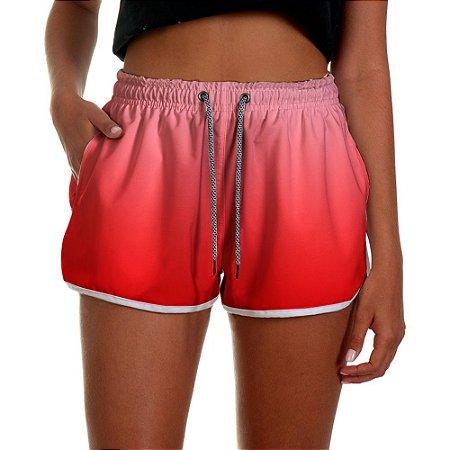 Shorts Feminino Vermelho Degrade UseThuco