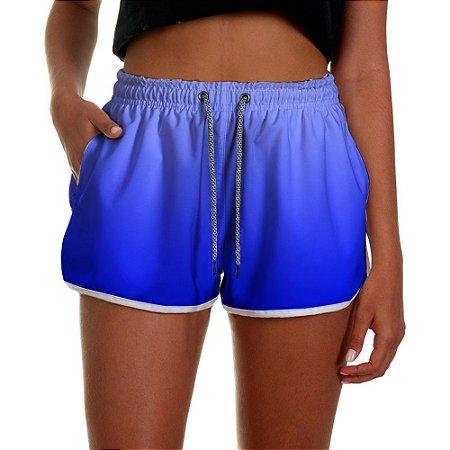 Shorts Feminino Azul Degrade UseThuco