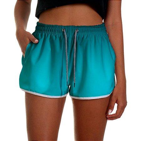 Shorts Feminino Azul Piscina Degrade UseThuco