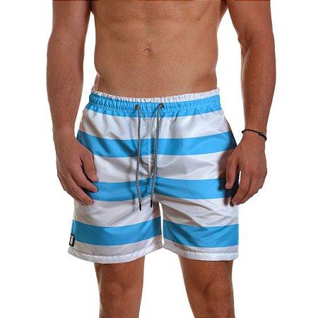 Short de Praia Masculino Listras Azul Use Thuco