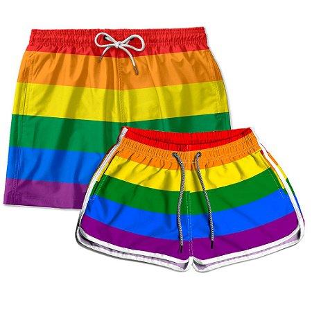 Kit Shorts Casal Masculino e Feminino LGBT Use Thuco