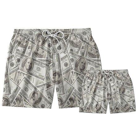 Kit Shorts Pai e Filho Dollar Use Thuco