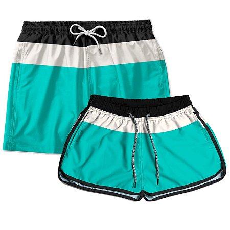 Kit Casal Short Praia Use Thuco Young Green