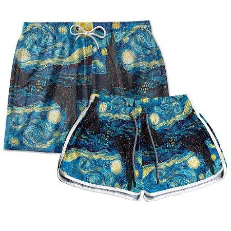 Kit Casal Short Praia Van Gogh Noite Estrelada Use Thuco