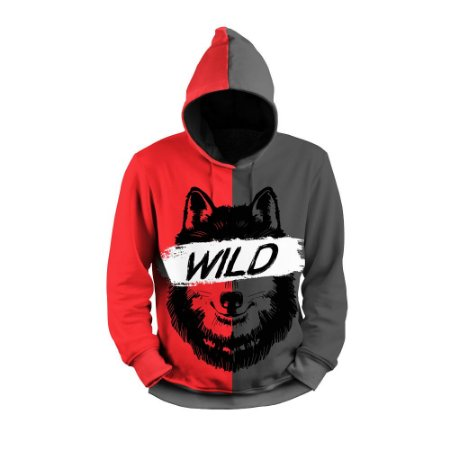 Moletom Full Print Use Thuco Wild Wolf
