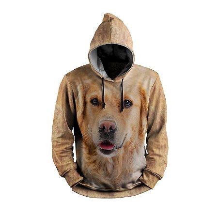 Moletom Golden Cachorro Full Print 3d Use Thuco