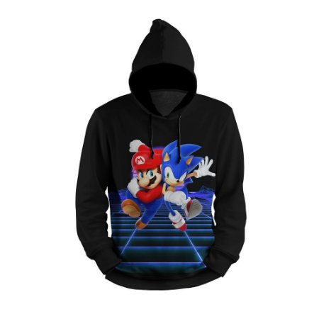 Moletom Mario Sonic Full Print 3d Use Thuco