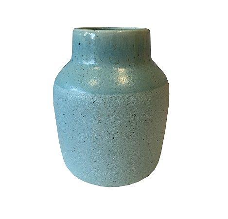 Vaso Cerâmica Azul Turquesa