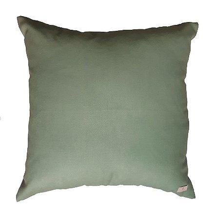 Almofada Verde Militar Clara 40 x 40cm