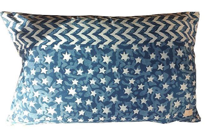 Capa de Almofada Azul Estrelinhas H 35 x 55cm